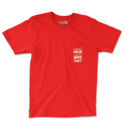 Super Cool Dad Of A Freaking Awesome Nurse Pocket T-shirt Designed By Tshiart
