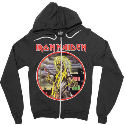 Iron Maiden Killers Circle Zipper Hoodie Designed By Vanitty