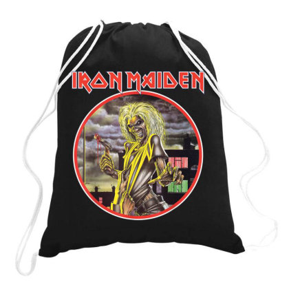 Iron Maiden Killers Circle Drawstring Bags Designed By Vanitty