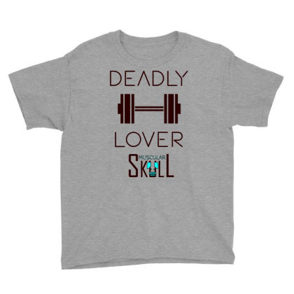 Deadly Dumbbell Lover 2 Youth Tee Designed By .m.e.l.u.h.a. Fashion Store