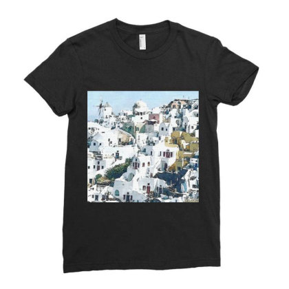 Greece Ladies Fitted T-shirt Designed By Artango