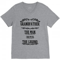the man  the myth   the legend - grandfather V-Neck Tee | Artistshot