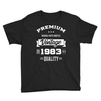 1983 Vintage Year - Aged To Perfection - 37th Birthday Gift Youth Tee Designed By Diogo Calheiros