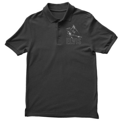 Elvis And Guitar Men's Polo Shirt Designed By Jacktees