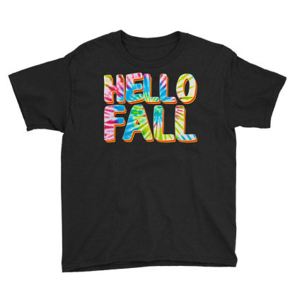 Hello Fall Youth Tee Designed By Badaudesign