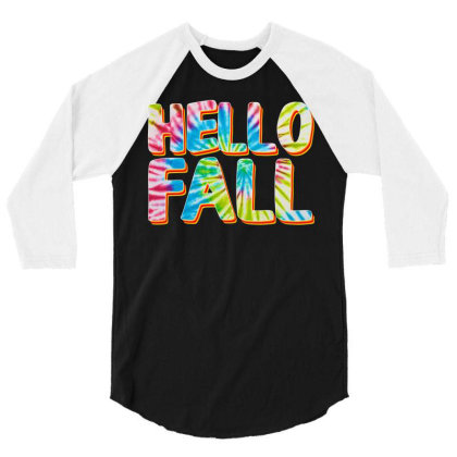 Hello Fall 3/4 Sleeve Shirt Designed By Badaudesign