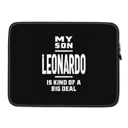 Leonardo Personalized Name Birthday Gift Laptop Sleeve Designed By Cidolopez