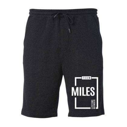 Miles Personalized Name Birthday Gift Fleece Short Designed By Cidolopez