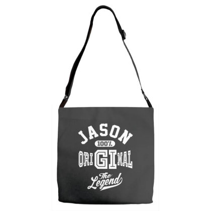 Jason Personalized Name Birthday Gift Adjustable Strap Totes Designed By Cidolopez