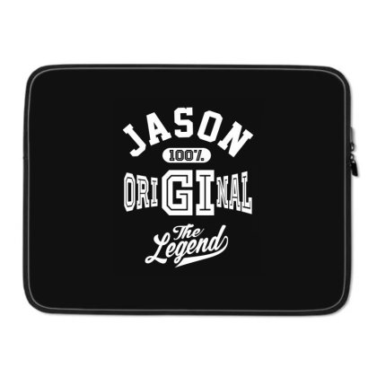 Jason Personalized Name Birthday Gift Laptop Sleeve Designed By Cidolopez