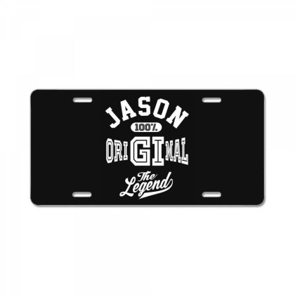 Jason Personalized Name Birthday Gift License Plate Designed By Cidolopez