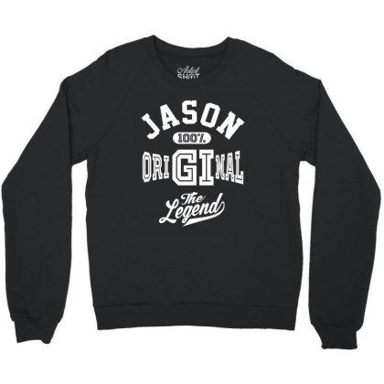 Jason Personalized Name Birthday Gift Crewneck Sweatshirt Designed By Cidolopez