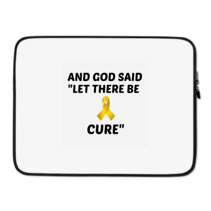 And God Said Let There Be Cure Laptop Sleeve Designed By Perfect Designers
