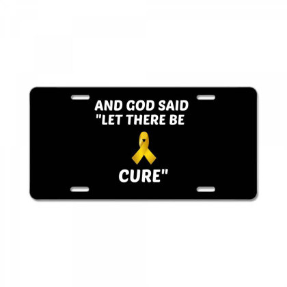 And God Said Let There Be Cure White License Plate Designed By Perfect Designers