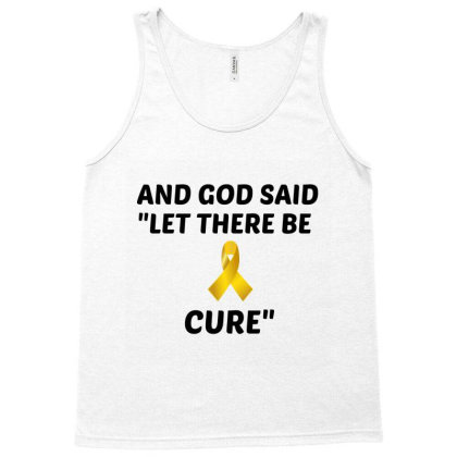 And God Said Let There Be Cure Tank Top Designed By Perfect Designers
