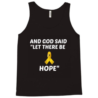 And God Said Let There Be Hope White Tank Top Designed By Perfect Designers