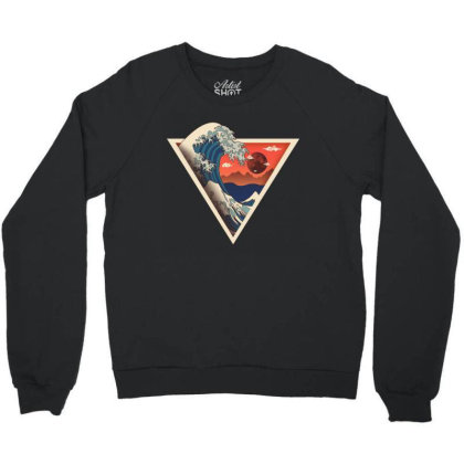 Big Wave Crewneck Sweatshirt Designed By Hirolabs