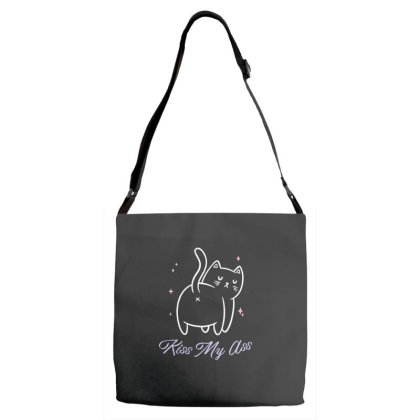 Kiss My Ass Funny Cute Gift Adjustable Strap Totes Designed By Koalastudio