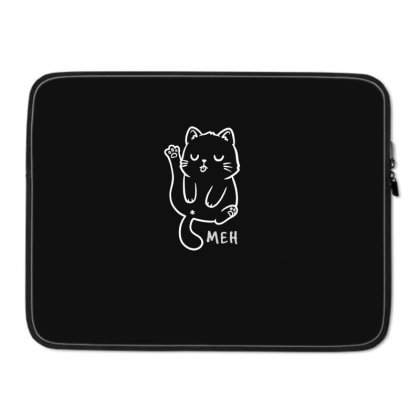 Meh Funny Cute Gift Laptop Sleeve Designed By Koalastudio