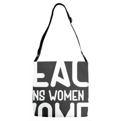 Religion Of Peace Adjustable Strap Totes Designed By Citron