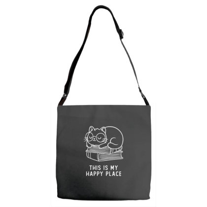 This Is My Happy Place Funny Cute Gift Adjustable Strap Totes Designed By Koalastudio