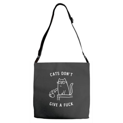 Cats Dont Give A Fuck Funny Cute Gift Adjustable Strap Totes Designed By Koalastudio