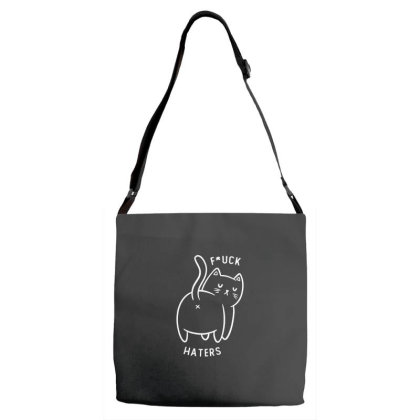 Fuck Haters Funny Cute Gift Adjustable Strap Totes Designed By Koalastudio