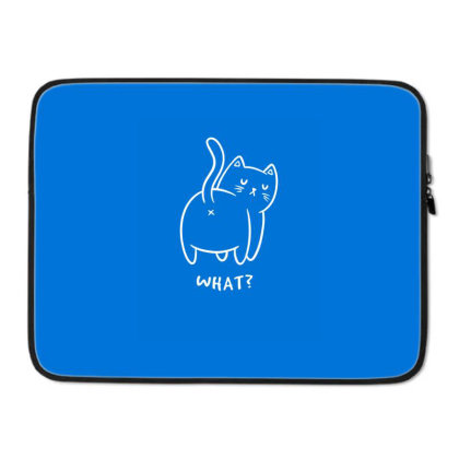 What? Funny Cute Gift Laptop Sleeve Designed By Koalastudio
