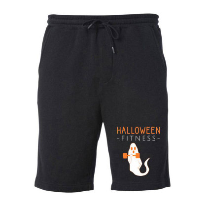 Halloween Fitness Workout Fleece Short Designed By Cypryanus