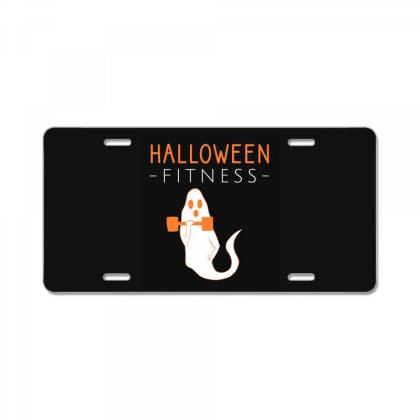 Halloween Fitness Workout License Plate Designed By Cypryanus