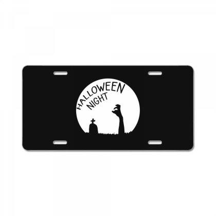 Halloween Night Zombies License Plate Designed By Cypryanus