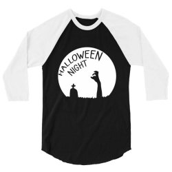 Halloween night zombies 3/4 Sleeve Shirt | Artistshot