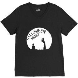 Halloween night zombies V-Neck Tee | Artistshot