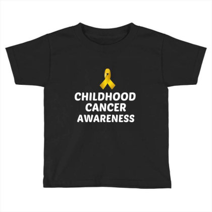 Childhood Cancer Awareness White Toddler T-shirt Designed By Perfect Designers