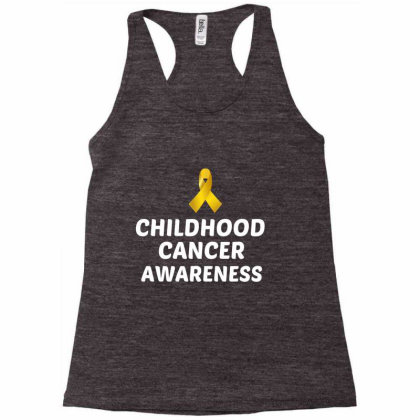 Childhood Cancer Awareness White Racerback Tank Designed By Perfect Designers