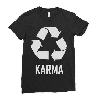 Karma Ladies Fitted T-shirt Designed By Enjang