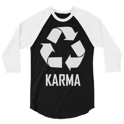 Karma 3/4 Sleeve Shirt Designed By Enjang