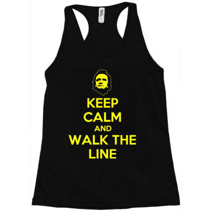 Keep Calm And Walk The Line Johnny Cash 3 Racerback Tank Designed By Lyly