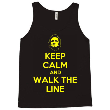 Keep Calm And Walk The Line Johnny Cash 3 Tank Top Designed By Lyly