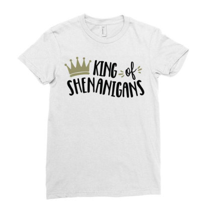 King Shenanigans Ladies Fitted T-shirt Designed By Fanshirt