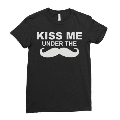 Kiss Me (2) Ladies Fitted T-shirt Designed By Fanshirt