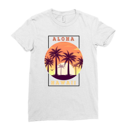 Aloha Hawaii For Light Ladies Fitted T-shirt Designed By Sengul