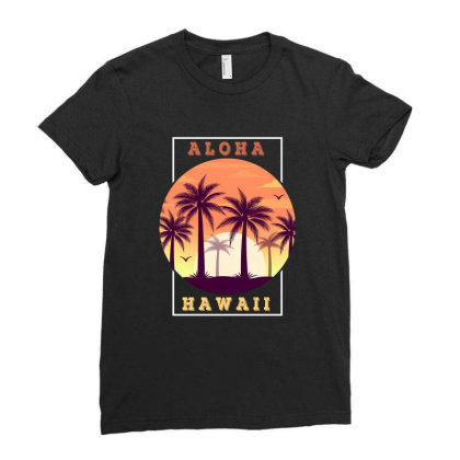 Aloha Hawaii Ladies Fitted T-shirt Designed By Sengul