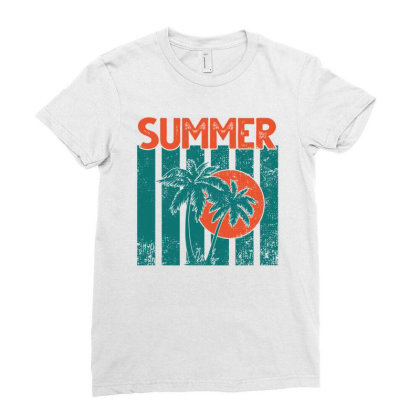 Summer Ladies Fitted T-shirt Designed By Sengul