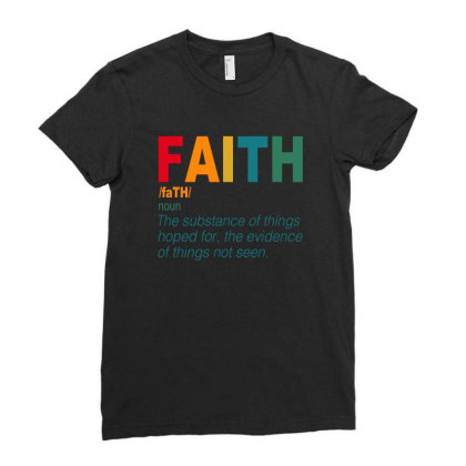 Faith Ladies Fitted T-shirt Designed By Sengul