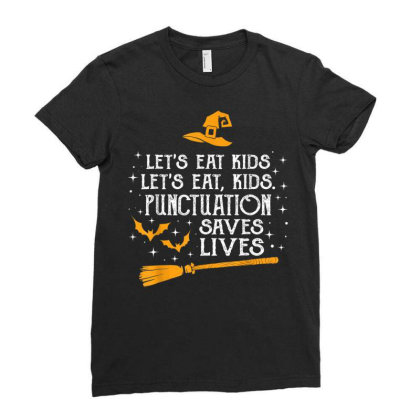 Halloween Let's Eat Kids School 2020 Ladies Fitted T-shirt Designed By Kakashop