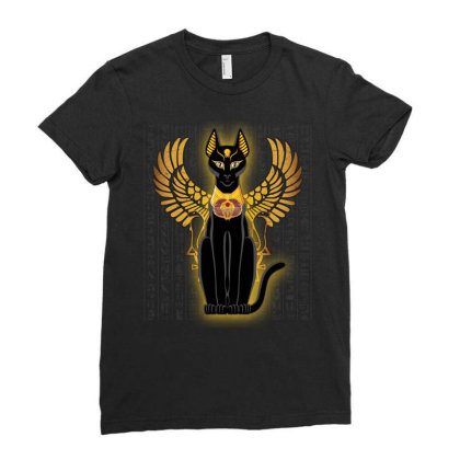Egypt Cat Napoleon Wings Ladies Fitted T-shirt Designed By Nvlinh