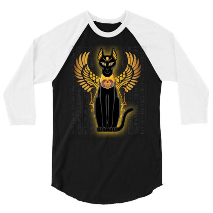 Egypt Cat Napoleon Wings 3/4 Sleeve Shirt Designed By Nvlinh