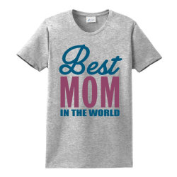 Best Mom In The World Ladies Classic T-shirt Designed By Tshiart