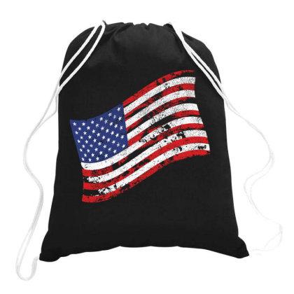 American Flag, Usa, America Drawstring Bags Designed By Estore
